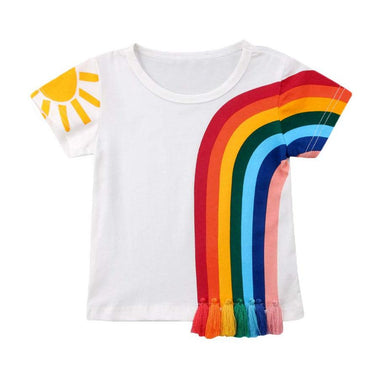 Rainbow Tassel Tee - The Trendy Toddlers