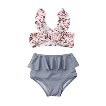 Floral Bowknot Swimsuit - The Trendy Toddlers