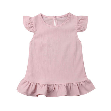 Solid Chiffon Dress - The Trendy Toddlers
