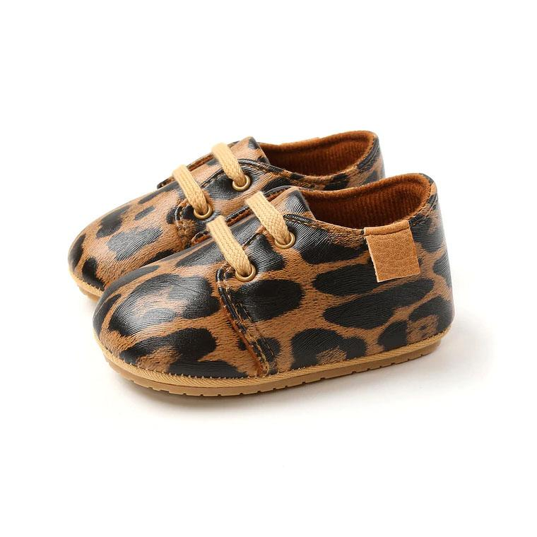 Lace Up Leopard Shoes