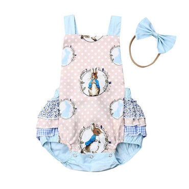 Blue Dot Easter Romper