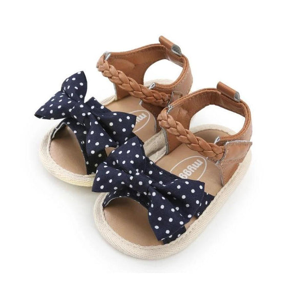 Polka Dot Bow Sandals