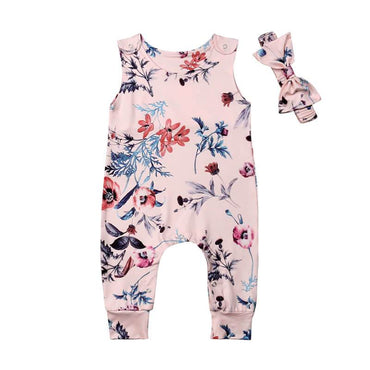 Floral Leaves Jumpsuit - The Trendy Toddlers
