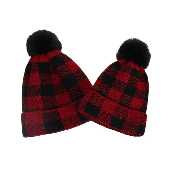 Matching Plaid Hat
