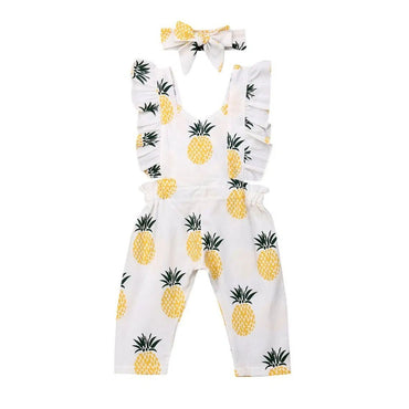 Pineapple Ruffled Jumpsuit