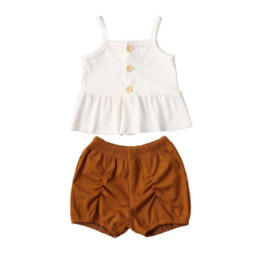 Ruffled Linen Set - The Trendy Toddlers