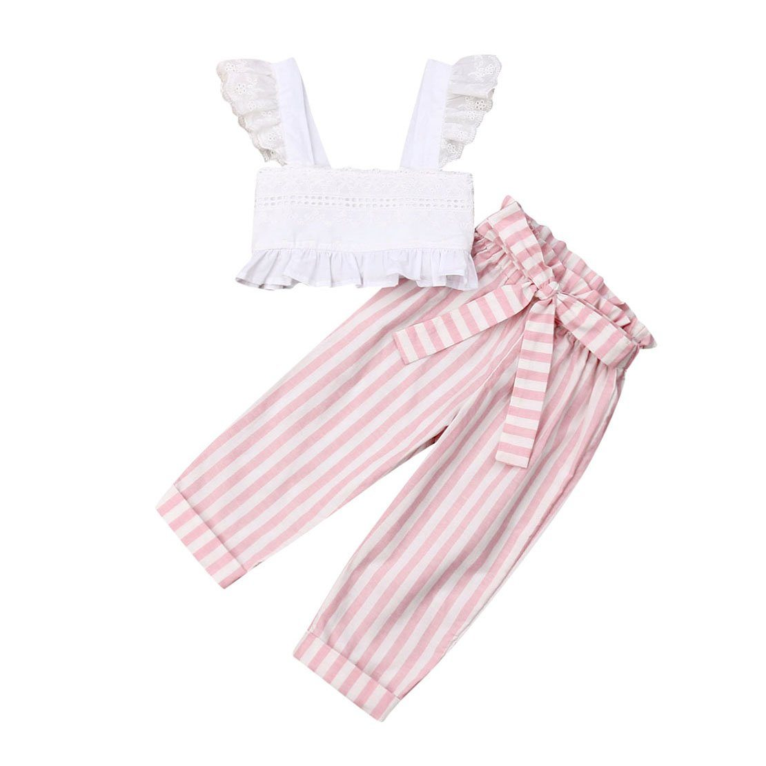 Pink Striped Set - The Trendy Toddlers