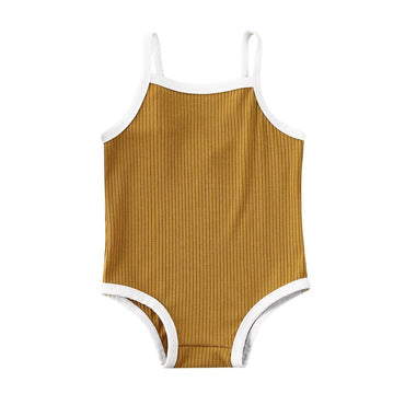 Retro Solid Swimsuit