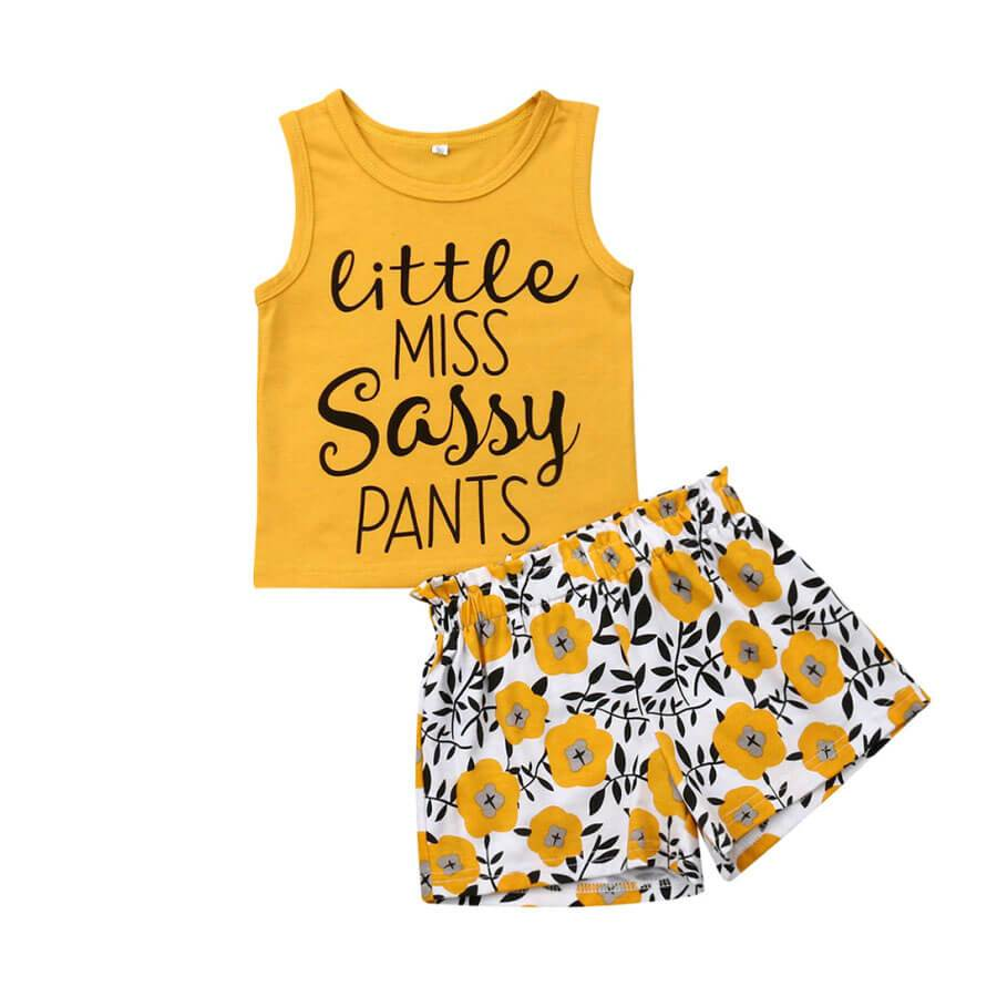 Little Sassy Summer Set - The Trendy Toddlers