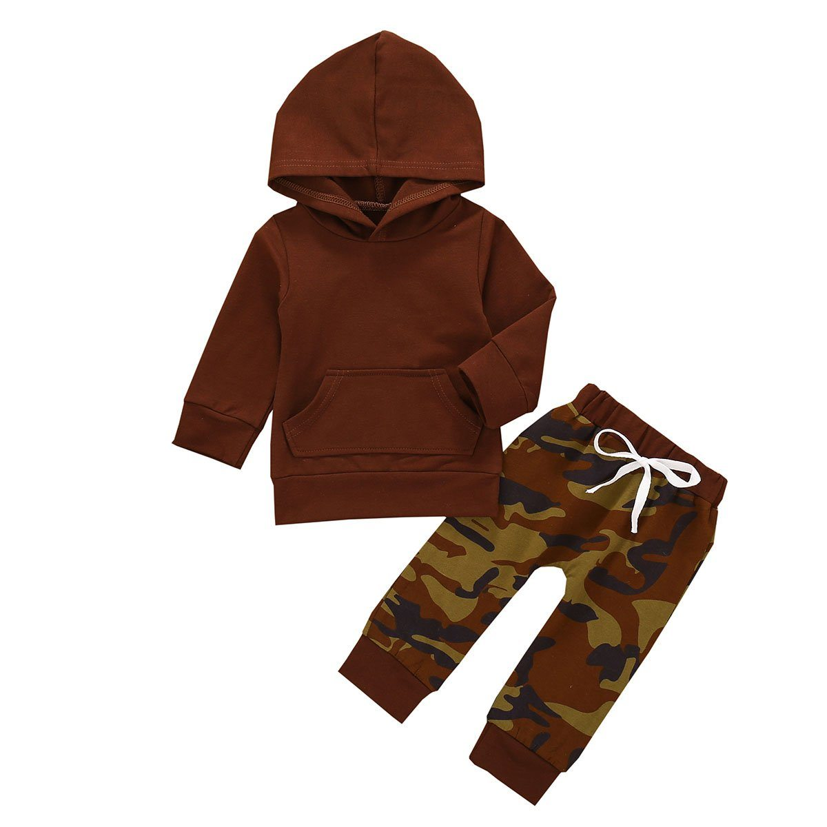 Brown Hooded Camo Set