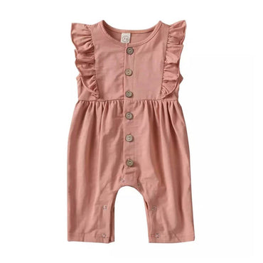 Ruffled Solid Jumpsuit - The Trendy Toddlers