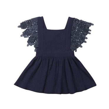 Dark Blue Lace Party Dress
