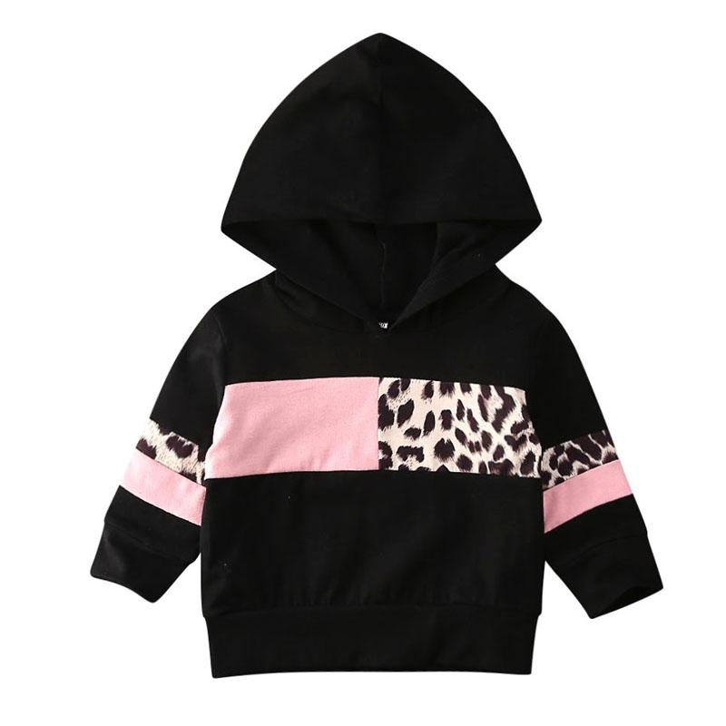 Black Leopard Hoodie - The Trendy Toddlers