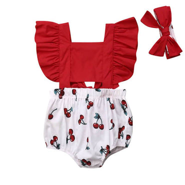 Red Cherry Romper - The Trendy Toddlers