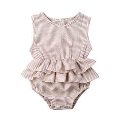 Solid Ruffle Romper - The Trendy Toddlers