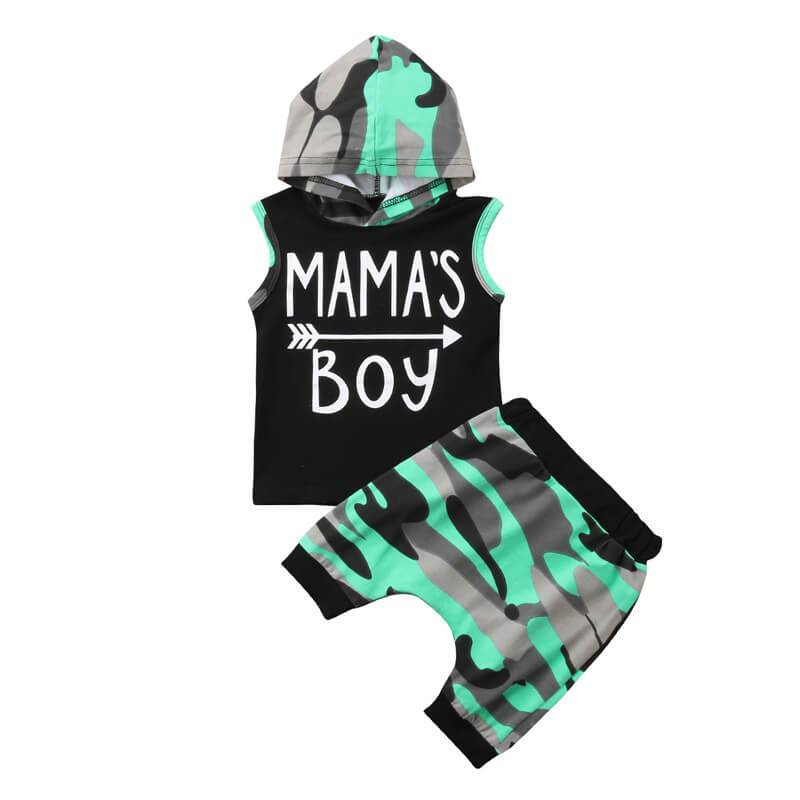 Mama's Boy Camo Set - The Trendy Toddlers