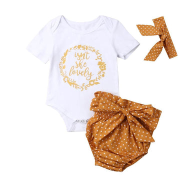 Lovely Mustard Dot Set - The Trendy Toddlers