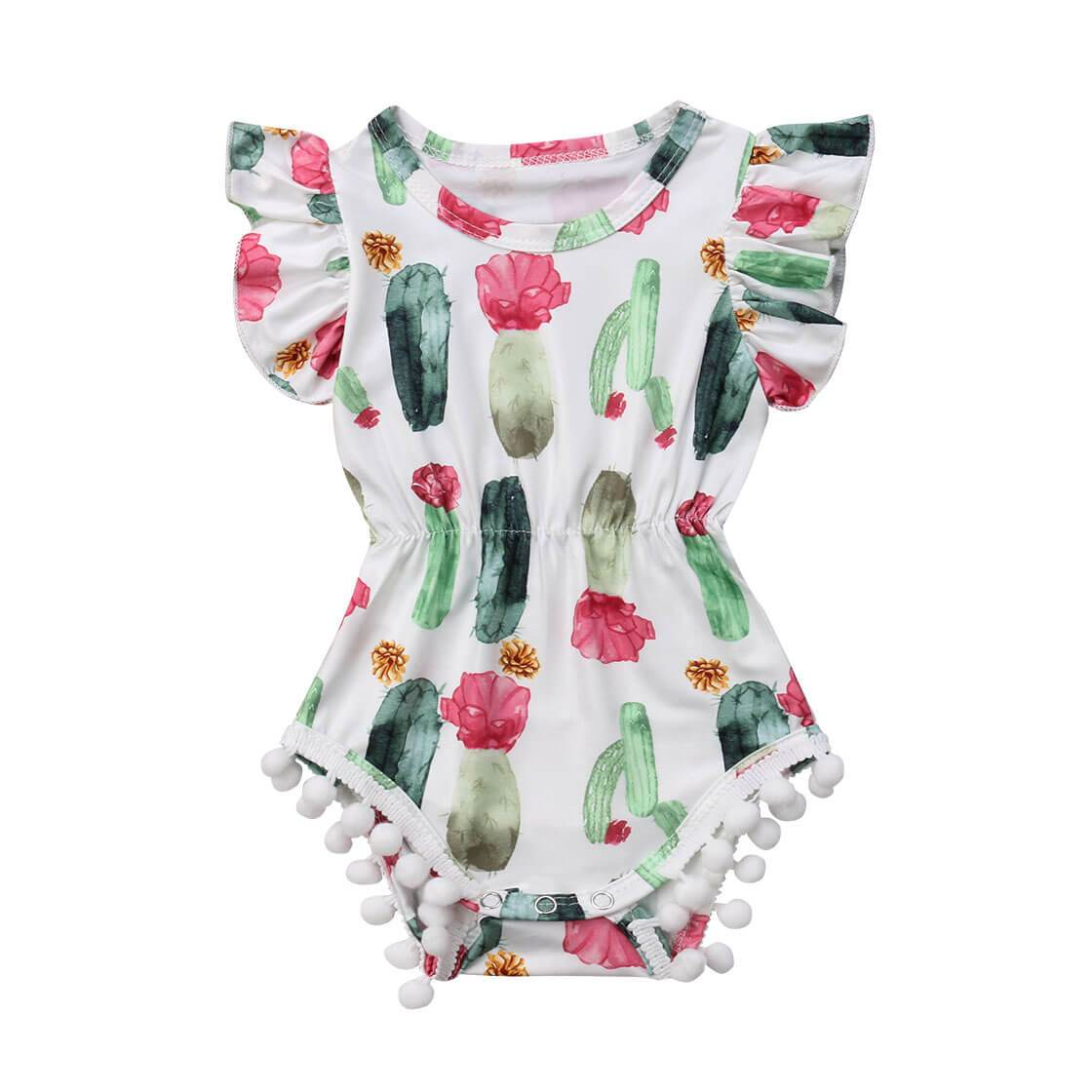 Tassel Cactus Romper - The Trendy Toddlers
