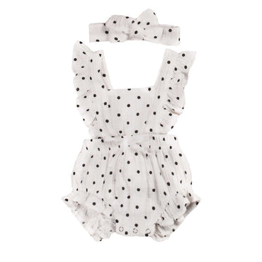 Polka Dot Ruffled Romper