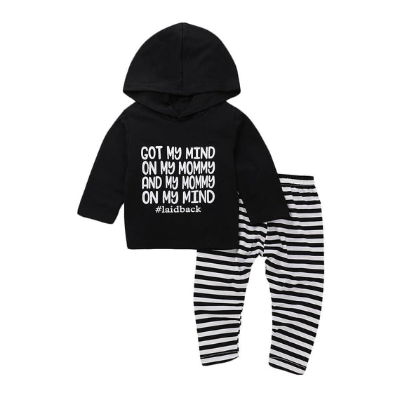 My Mind Striped Set - The Trendy Toddlers