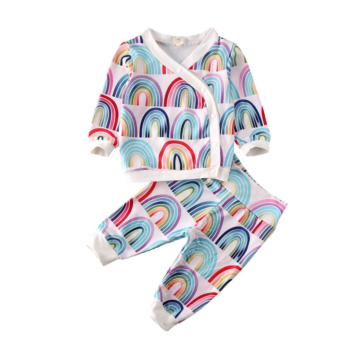 Rainbow Side Button Set - The Trendy Toddlers