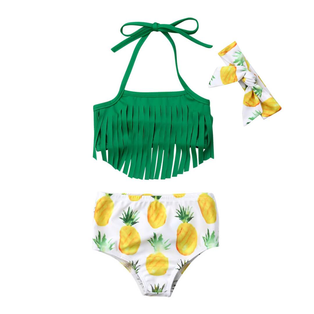 Pineapple Tassel Swimsuit - The Trendy Toddlers