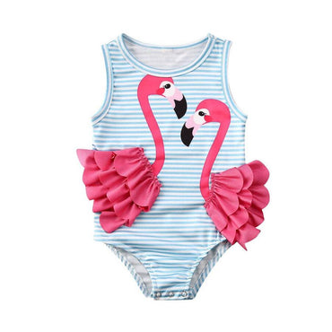 Striped Flamingo Swimsuit