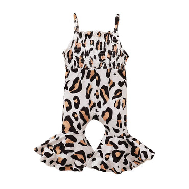 Leopard Bell Bottom Jumpsuit