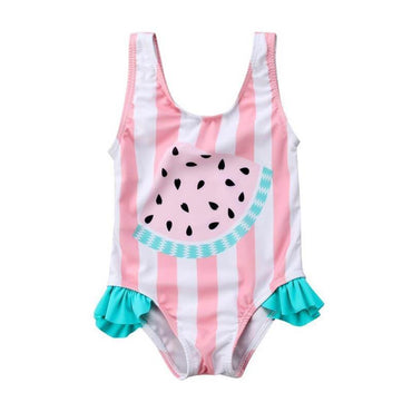 Striped Watermelon Swimsuit - The Trendy Toddlers