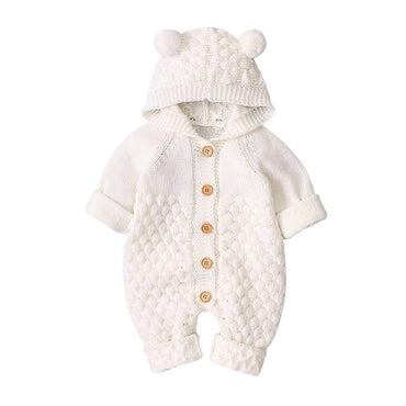 Knitted Bear Ears Jumpsuit