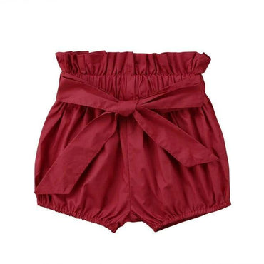 Burgundy Tie Bloomer Shorts