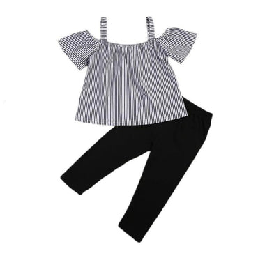 Striped Black Set - The Trendy Toddlers