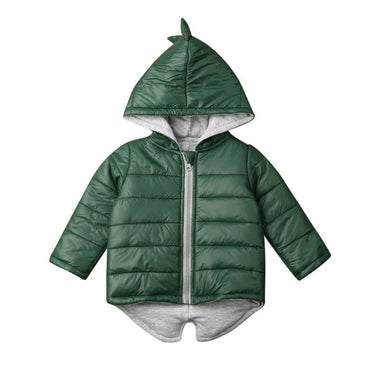 Green Dino Zipper Jacket