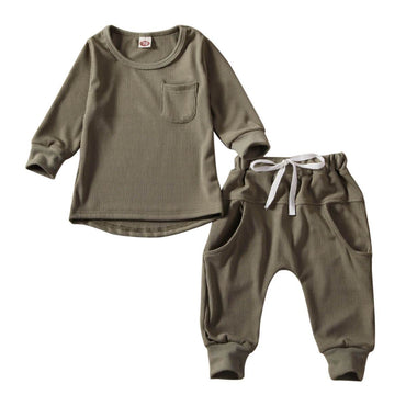 Khaki Ribbed Set