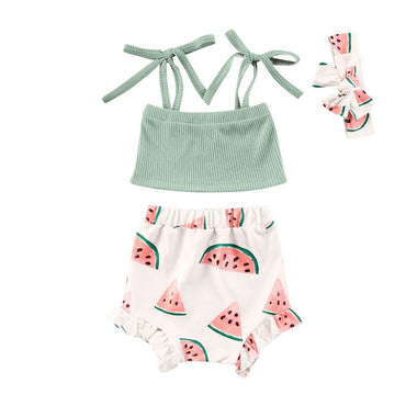 Watermelon Ribbed Set