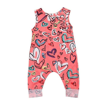 Hearts Sleeveless Jumpsuit - The Trendy Toddlers