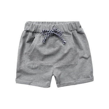 Gray Pocket Pull-On Shorts