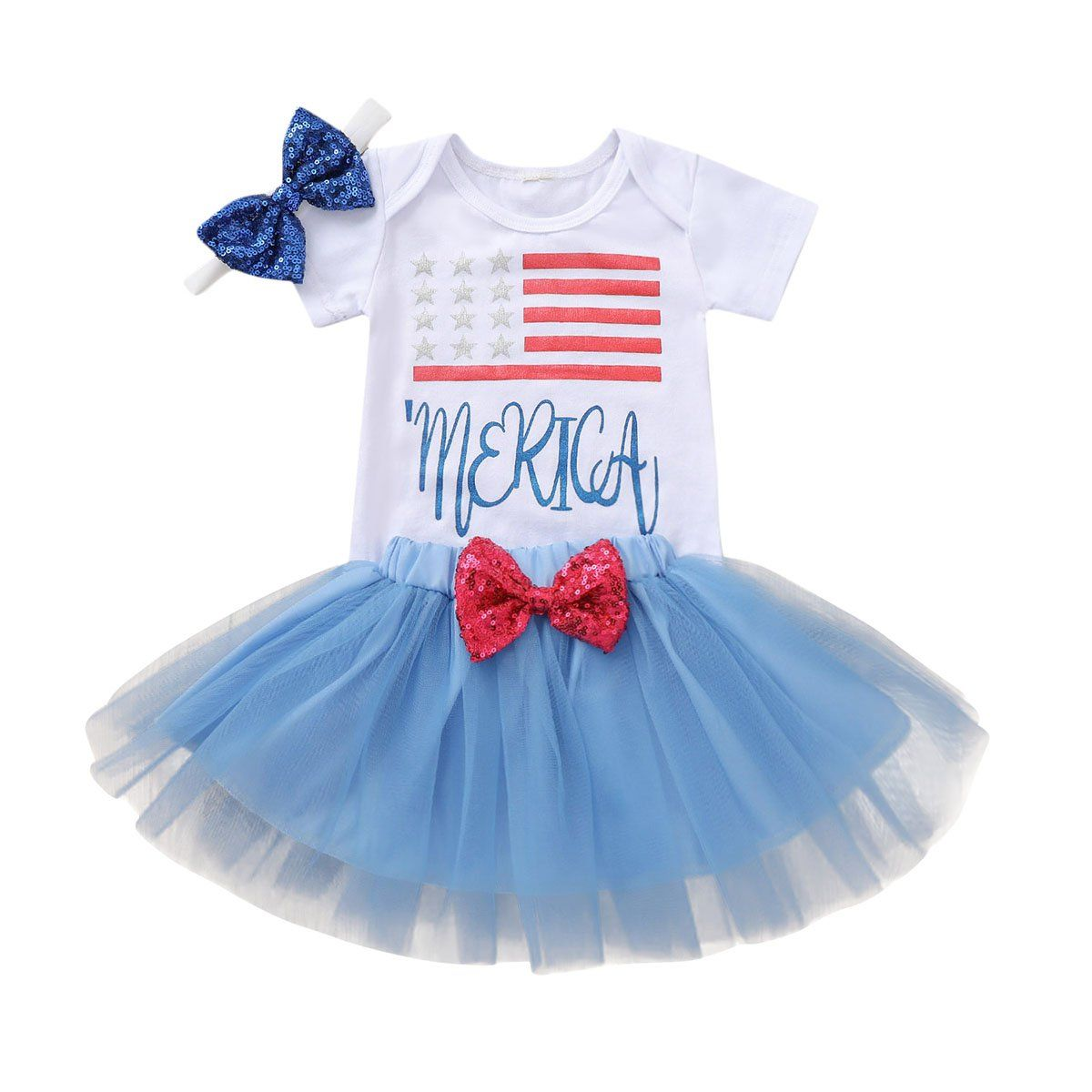 America Bow Skirt Set