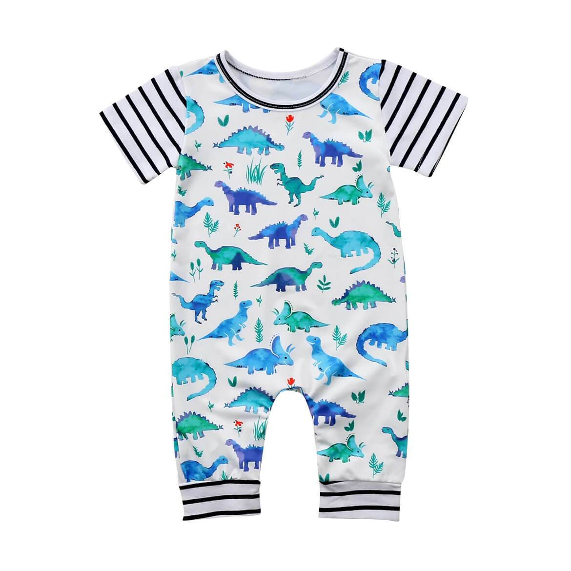 Short Sleeve Dino Jumpsuit