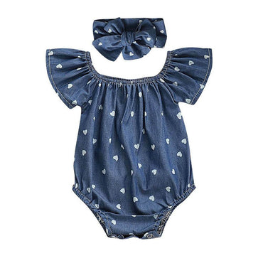 Blue Hearts Romper