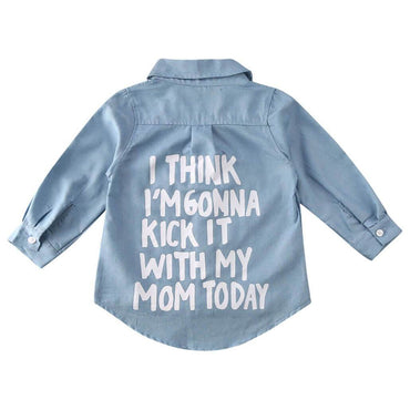 With My Mom Denim Shirt - The Trendy Toddlers