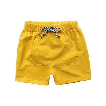 Yellow Pocket Pull-On Shorts