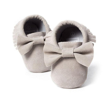 Fringed Bow Moccasins - The Trendy Toddlers