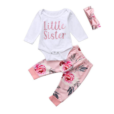 Little Sister Floral Set - The Trendy Toddlers