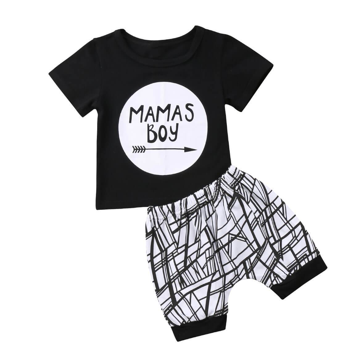 Mama's Boy Geometric Set - The Trendy Toddlers
