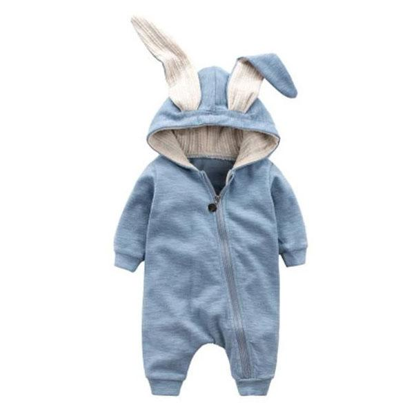 Bunny Hooded Jumpsuit - The Trendy Toddlers