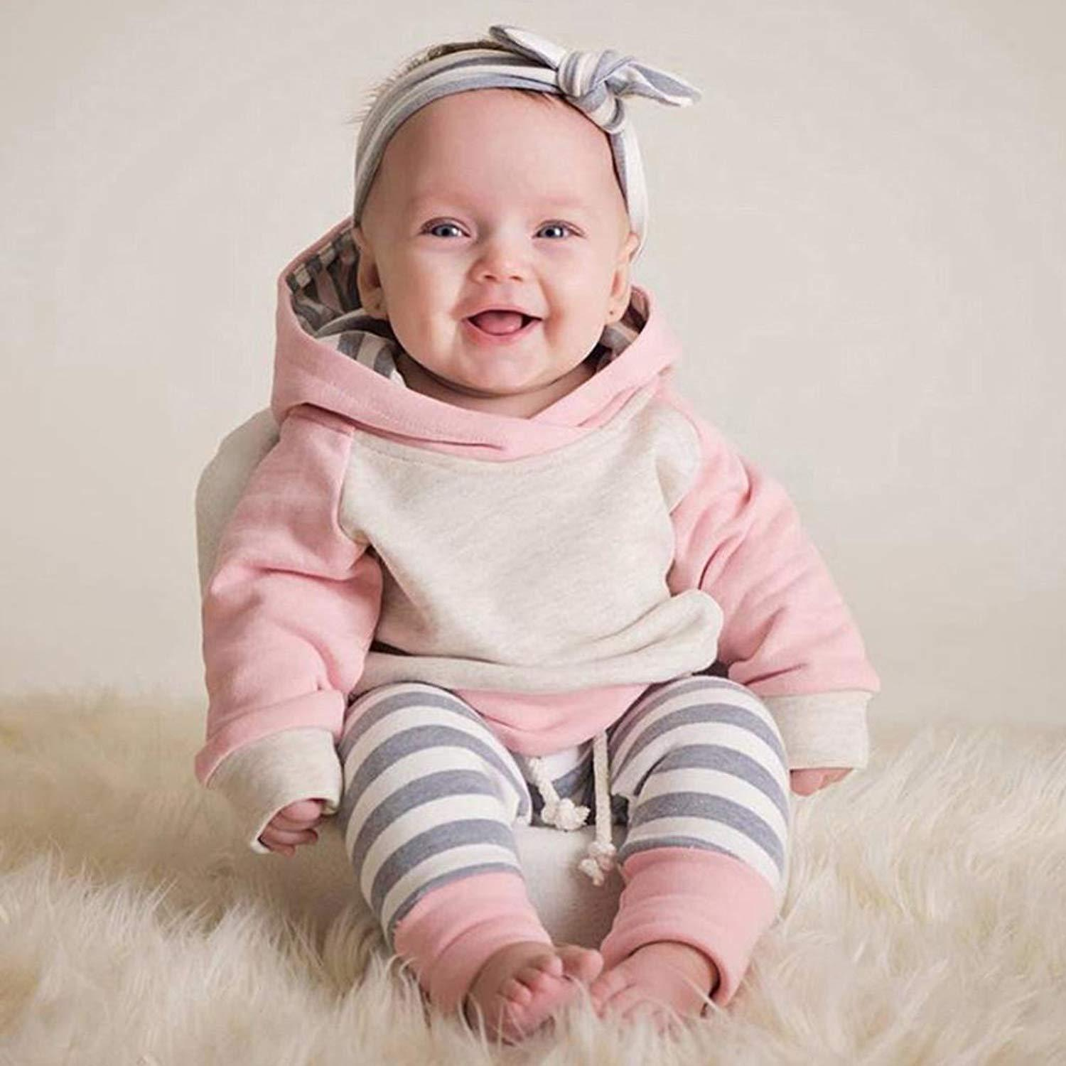 Long Sleeve Hooded Set - The Trendy Toddlers