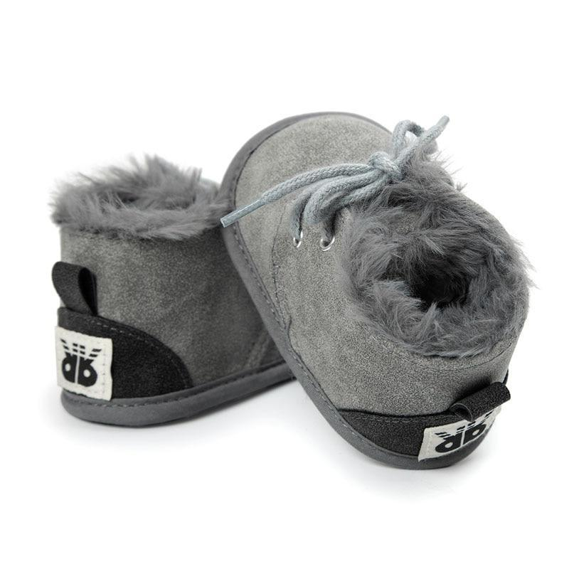 Gray Faux Fur Boots - The Trendy Toddlers