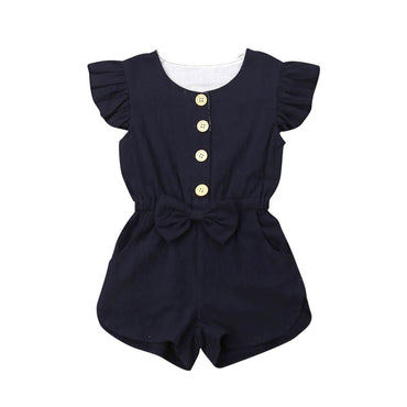Ruffle Bow Romper - The Trendy Toddlers