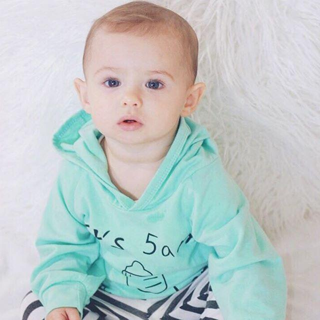 Turquoise Hooded Set - The Trendy Toddlers